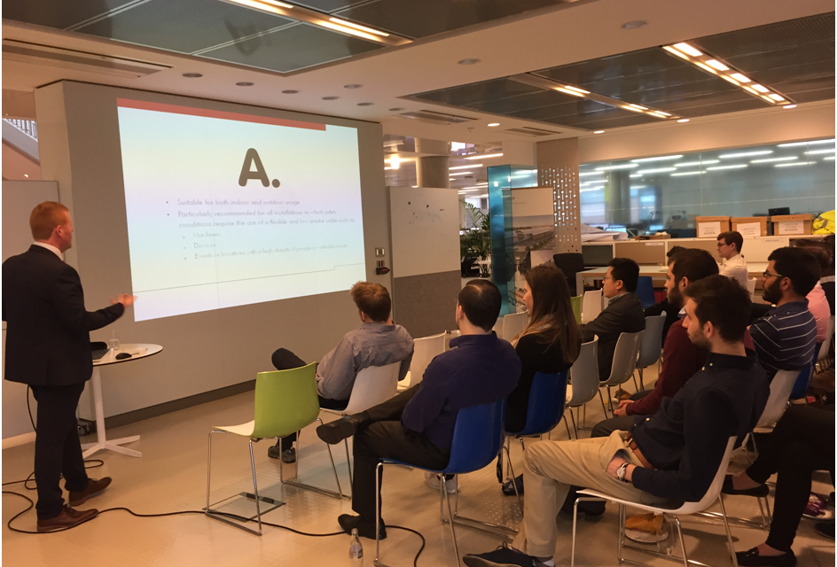 Cable experts from Nexans deliver CPD training to Arup