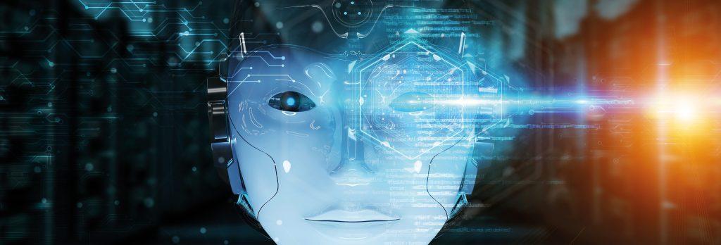 Cyborgheadusingartificialintelligencetocreatedigitalinterface3Drendering-1024x348