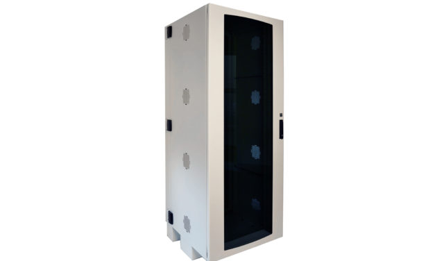 Protect, Secure Large ICT Equipment in Limited Spaces with CUBE-iT™ Wall-Mount Floor-Supported Cabinet