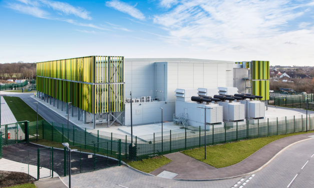 Kao Data Approves Panduit Hot Aisle Containment Enclosure and Equipment Rack Systems at London One Data Centre