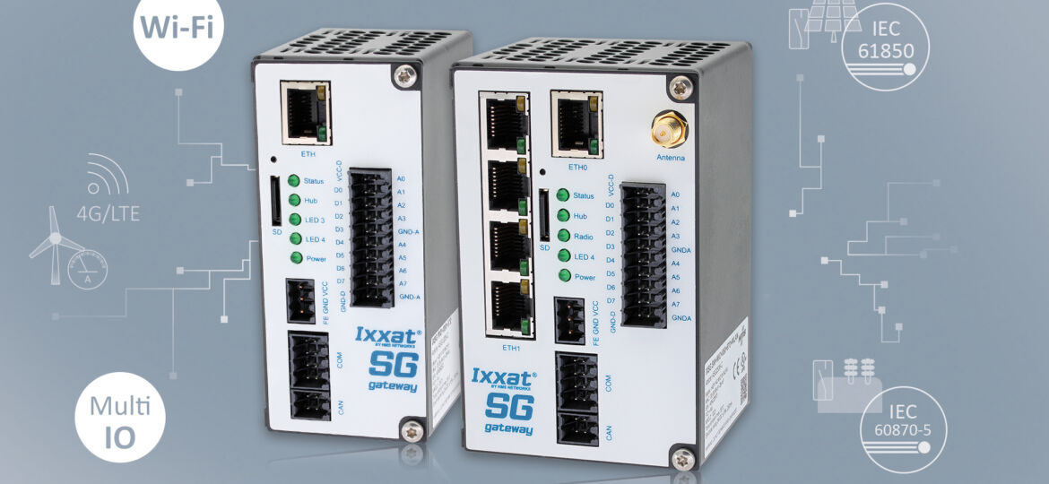 Ixxat Smart Grid Gateways enable IO and Wi-Fi sensors to be connected to energy networks