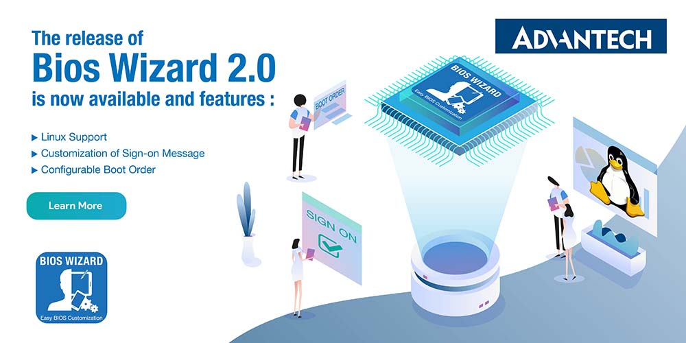 Advantech Releases BIOS Wizard 2.0 Adding New Features and Support for Linux